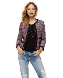 Juicy Couture Juicy Couture Tweed Collarless Jacket