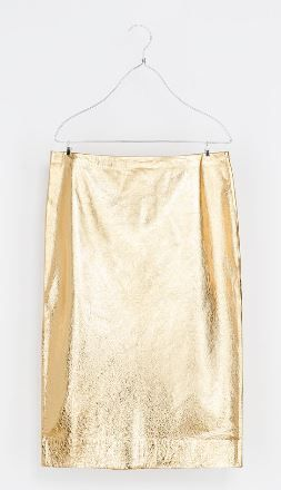 Zara  Metallic Leather Skirt