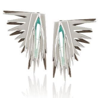 Eddie Borgo  Cyprus Rhodium-Plated Howlite Earrings
