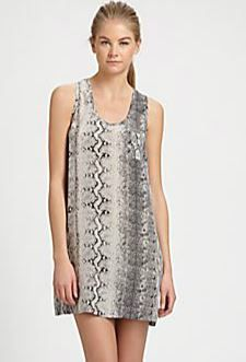 Joie   Peri Snakeskin Print Silk Dress