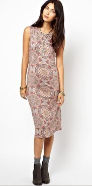 Free People  Printed Midi