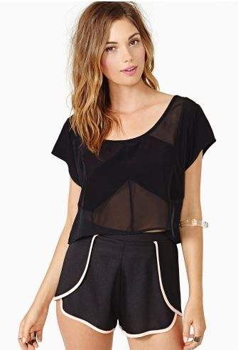 Nasty Gal  Covert Crop Top