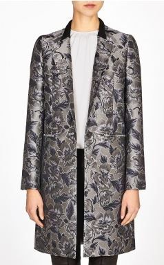 Paul Smith  Silver Jacquard Coat