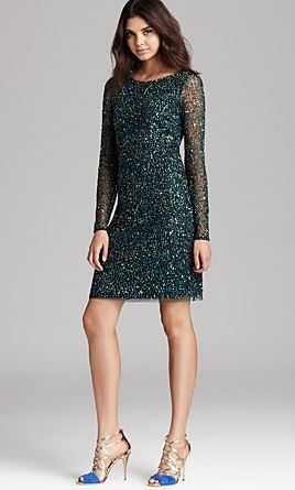 Aiden  Mattox All-Over Sequin Dress