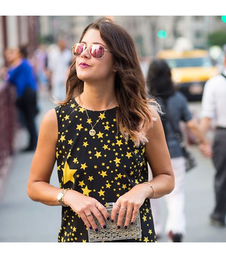 Jenagambaccini is wearing: Oliver Peoples sunglasses, Dolce & Gabbana dress, Johanna Ho bag, Alison Lou necklace.