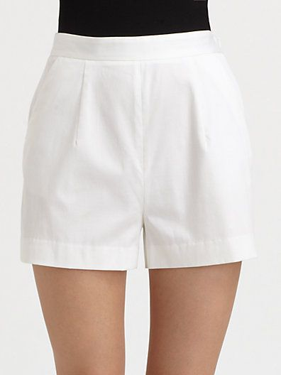 Milly Kelsey High-Waist Shorts