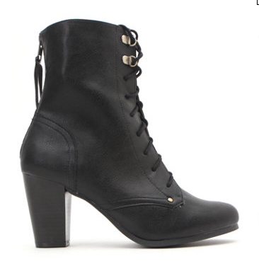 Qupid Rosky Lace Up Boots