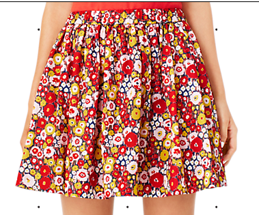 Kate Spade Saturday Gather-Round Mini Skirt In Busy Floral