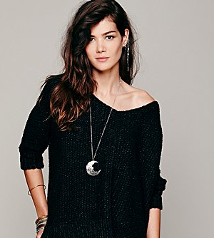 Free People Chunky Oversized Pullover