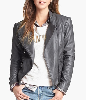 Jessica Simpson Trey Faux Leather Jacket