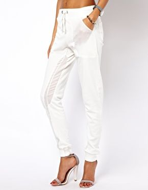 ASOS Sweatpants In Slim Fit With Sheer Panel