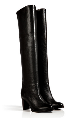 L'Autre Chose Textured Leather Over-The-Knee Boots