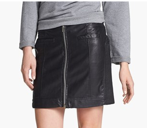 Two By Vince Camuto Faux Leather Moto Miniskirt