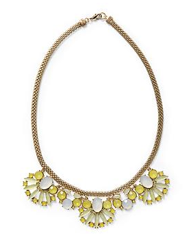 Pim + Larkin Yellow Cabochon Necklace