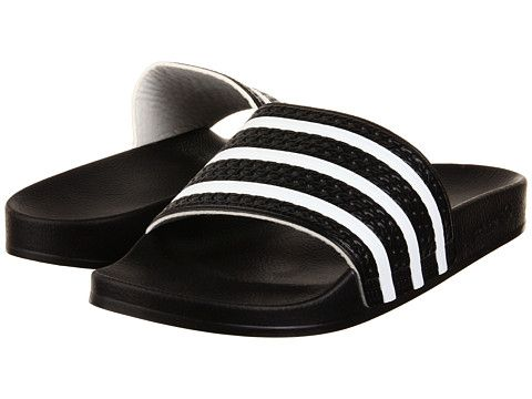 Adidas Adilette in Black/White