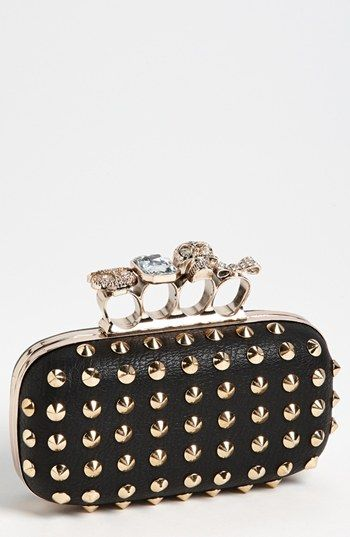 Natasha Couture Finger Studded Clutch