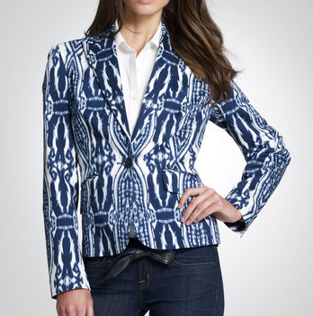 JNY Signature Printed Fitted Blazer