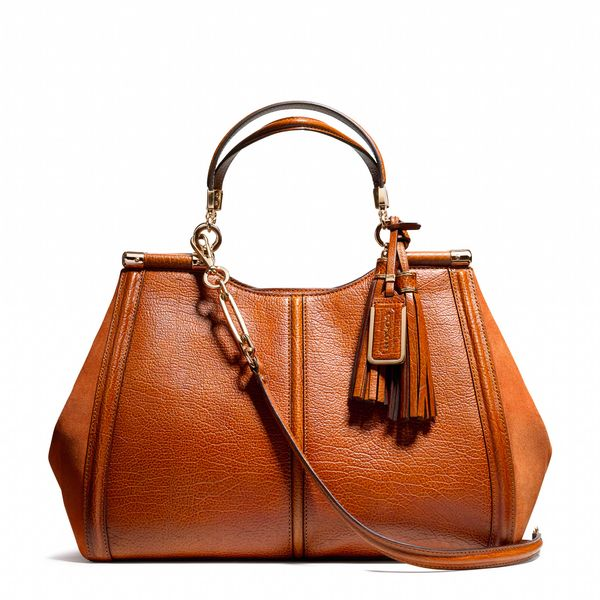 Coach  Madison Caroline Satchel in Buffalo Embossed Leather