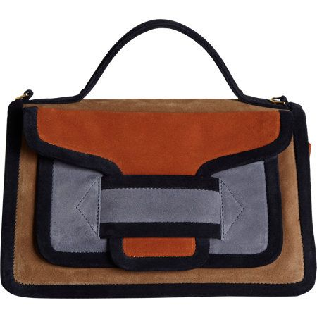 Pierre Hardy   Colorblock Suede AV02 Top Handle Bag