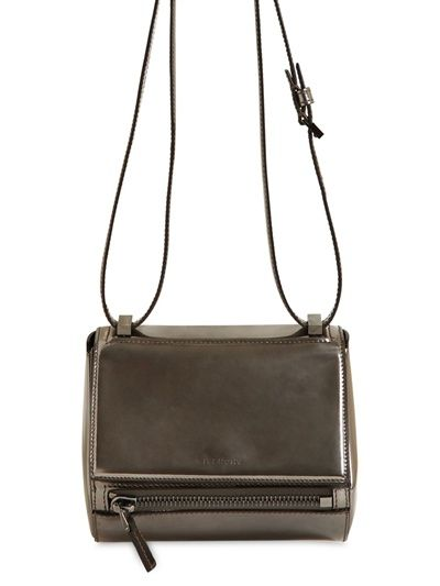 Givenchy  Mini Pandora Box Laminated Leather Bag