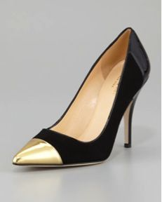 kate spade new york  Liberty Cap-Toe Suede Pumps