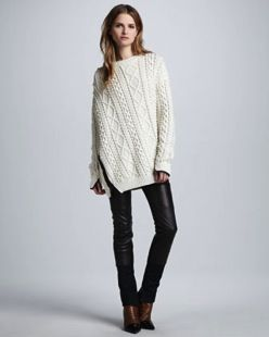 3.1 Phillip Lim 3.1 Phillip Lim Oversized Cable Knit Pullover