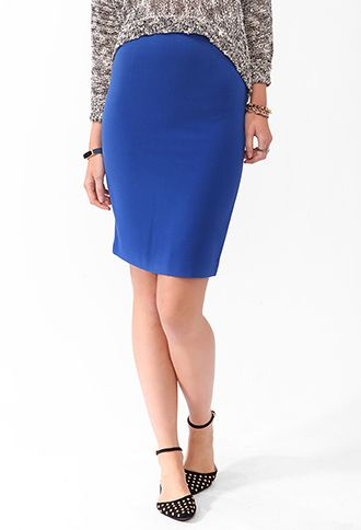 Forever 21  Solid Knee Length Skirt