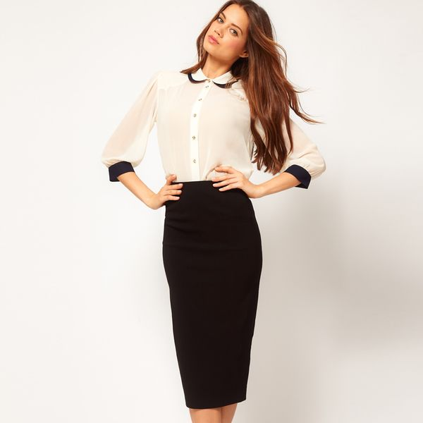 ASOS  Bengaline Pencil Skirt