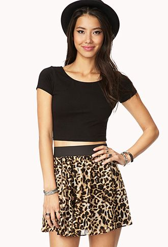 Forever 21  Chiffon Safari Skirt