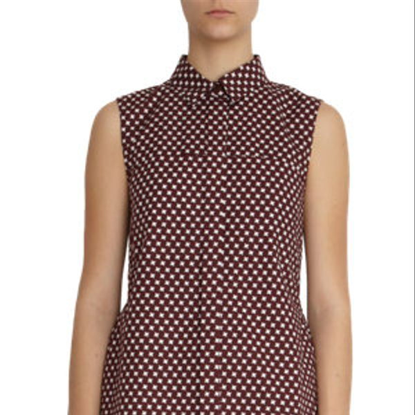 Marni  Star Check Peplum Back Blouse