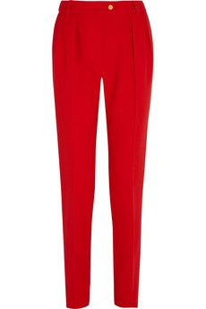 PREEN BY THORNTON BREGAZZI  Ara wool-crepe tapered pants