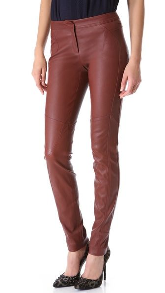 Diane von Furstenberg  Liberty Leather Pants