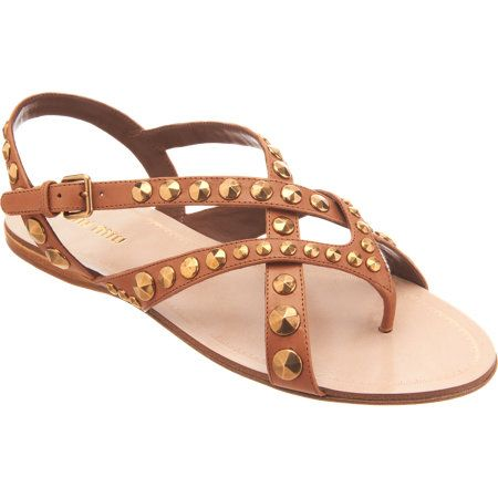 Miu Miu  Studded Gladiator Sandals