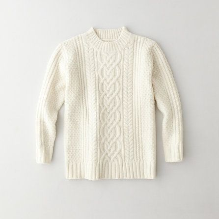 Steven Alan  Mock Neck Cable Sweater