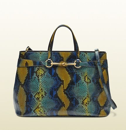 Gucci  Bright Python Top Handle Tote