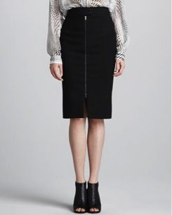 L'Agence  L'Agence Front Zip Skirt