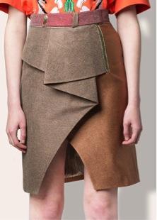 Three Floor  Three Floor Twist Skirt