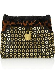 Burberry Prorsum Burberry Prorsum Calf Hair and Leather Clutch