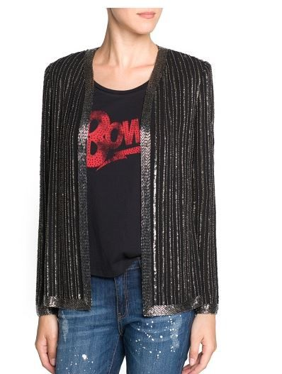 Mango  Beaded Chiffon Jacket