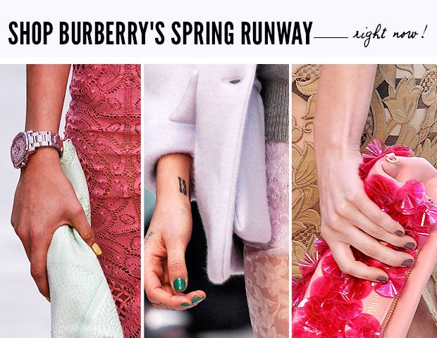 Shop Burberry's Limited Edition Runway Nail Polish