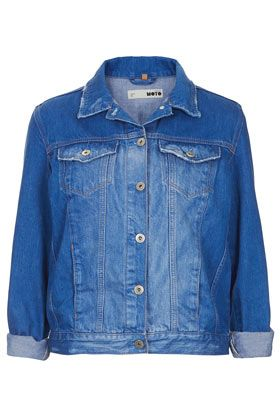 Topshop Moto Blue Denim Western Jacket