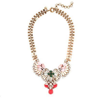 J.Crew  Crystal Fan Necklace