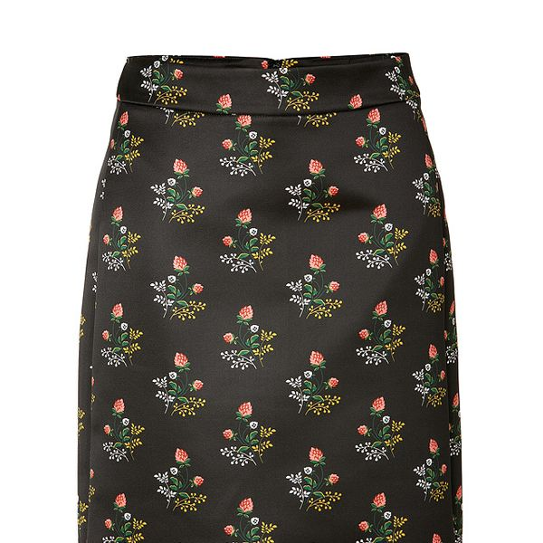 Derek Lam Black/Cinnamon Pattern Pencil Skirt