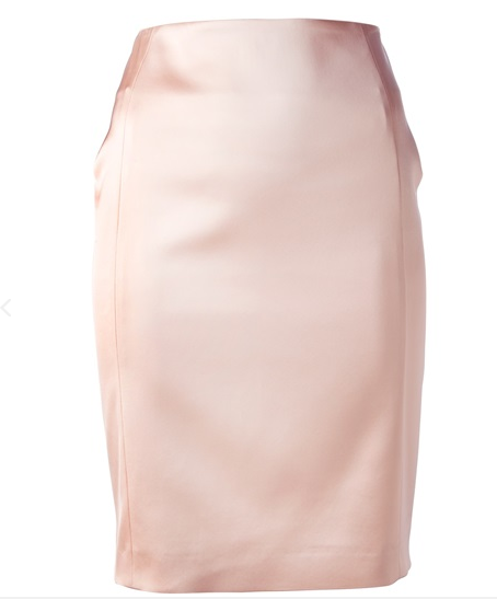 Cedric Charlier Satin Pencil Skirt