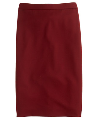J.Crew Pencil Skirt In Super 120S