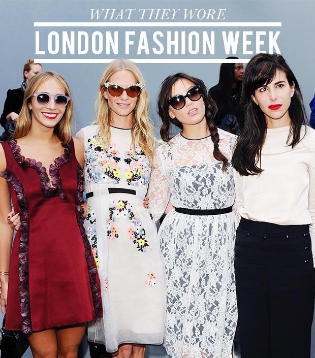 What The Stylish Set Wore To London Fashion Week