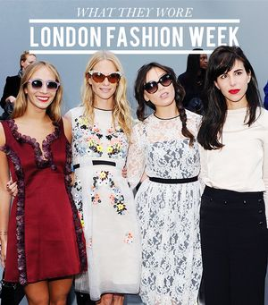 What The Stylish Set Wore To London Fashion Week