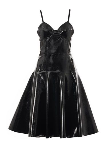 Jonathan Saunders  Jemima Fitted Vinyl Dress