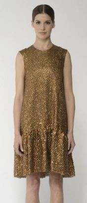 Monique Lhuillier  Sequin Palette Swing Cocktail Dress