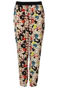 Topshop  Coloured Animal Woven Joggers